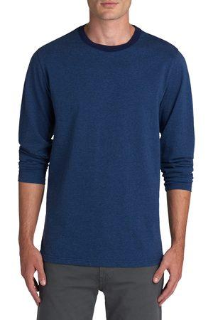 Bugatchi Men's Long Sleeve Crewneck Cotton T-Shirt