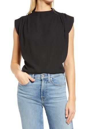Halogen Women's Halogen Pleat Shoulder Blouse