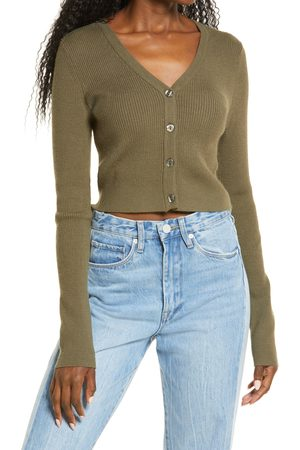 BP. Women's Front Button Crop Cardigan