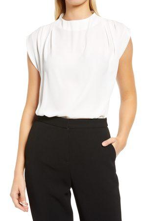 HalogenR Women's Halogen Pleat Shoulder Blouse