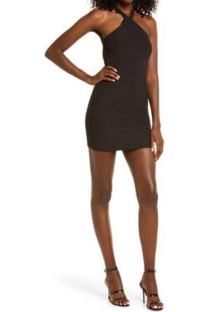 Naked Wardrobe Women Halterneck Dresses - Women's Halter Minidress