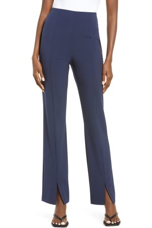 Open Edit Women's Slim Slit Front Pants