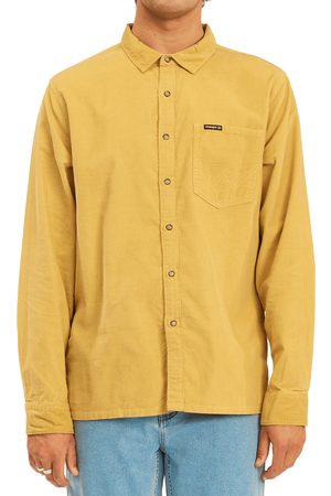 Billabong Men's Bowie Organic Cotton Corduroy Button-Up Shirt