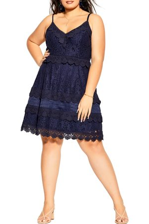 City Chic Plus Size Women's Lace Slipdress