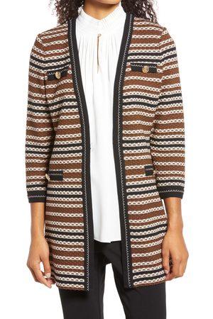 Ming Wang Women's Stripe Knit Jacket