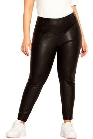 City Chic Plus Size Women's Faux Leather Pants