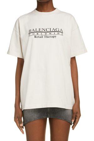 Balenciaga Women's Unisex Retail Therapy Graphic Tee