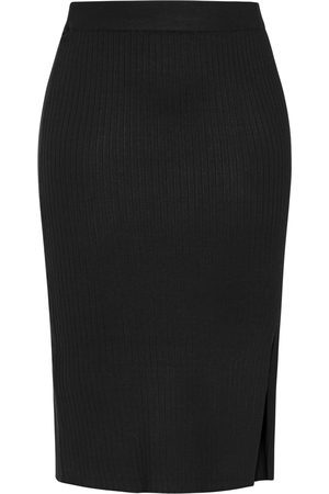 City Chic Plus Size Women's Obsession Side Slit Rib Midi Pencil Skirt