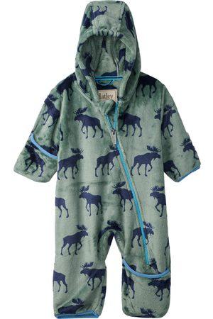 Hatley Infant Boy's Forest Moose Fleece Romper