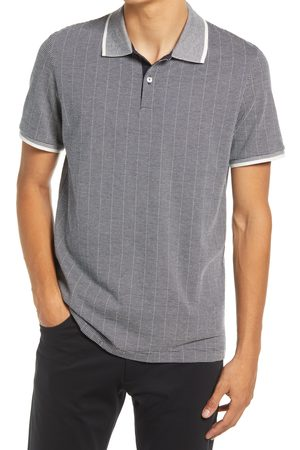 THEORY Men's Tipped Regular Fit Two-Tone Short Sleeve Pique Polo