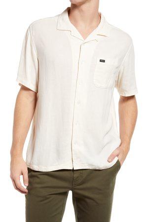 RVCA Men's Beat Short Sleeve Button-Up Shirt