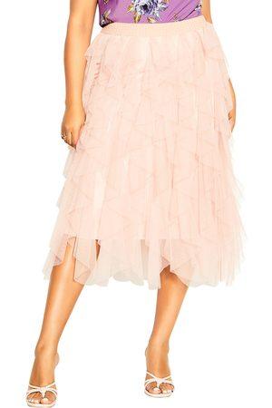City Chic Plus Size Women's Wild Pixy Layered Tulle Skirt