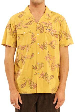 Billabong Men's Hazy Paisley Vacay Organic Cotton Blend Print Short Sleeve Button-Up Shirt