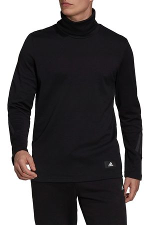 adidas Men's Men's Future Icons Winterized Mock Neck Long Sleeve T-Shirt