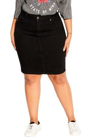 City Chic Plus Size Women's Exemplar Denim Skirt