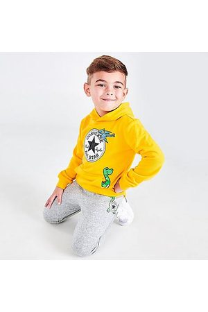 Converse Boys' Toddler Dino Friends Hoodie and Jogger Pants Set in / Size 2 Toddler Cotton/Knit
