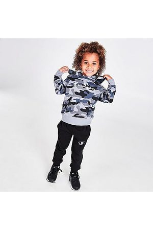 Champion Kids' Toddler Script Camouflage Hoodie and Jogger Pants Set in Camo/Grey/Grey Size 2 Toddler Cotton/Fleece