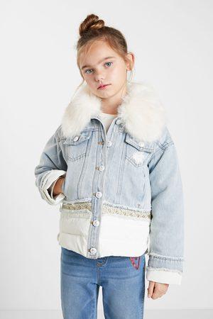 Desigual Decorated denim jacket
