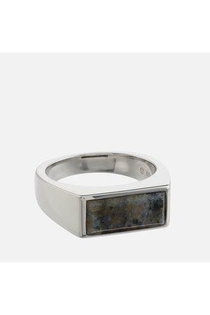 Tom Wood Men Rings - Men's Peaky Larvikite Ring