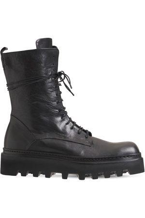 ERNESTO DOLANI Walter Leather Combat Boots