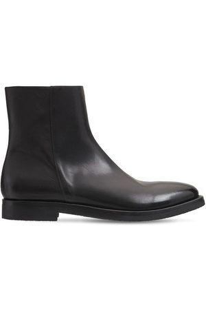 ALBERTO FASCIANI Leather Zip Ankle Boots