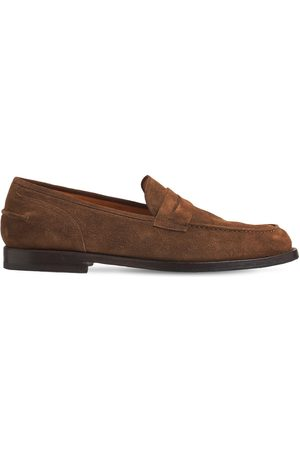 ALBERTO FASCIANI Men Loafers - Suede Penny Loafers