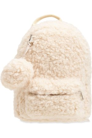 IL GUFO Girls Rucksacks - Faux Fur Backpack W/ Pompom