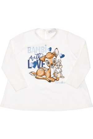 MONNALISA Bambi & Thumper Print Jersey T-shirt