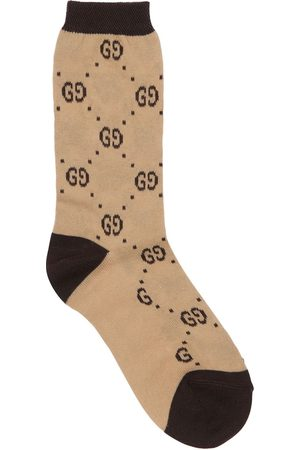 GUCCI Girls Socks - Logo Intarsia Cotton Blend Knit Socks