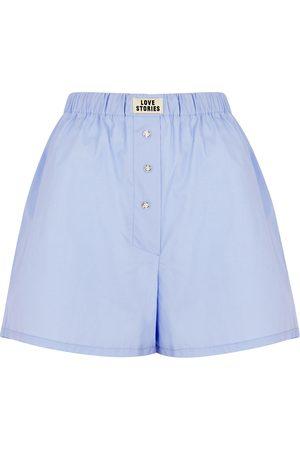 LOVE STORIES Women Pajamas - Sunday Long cotton pyjama shorts