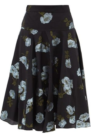 Erdem Starla Floral Fil-coupé Twill Skirt - Womens