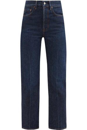 Acne Studios Women High Waisted - Mece High-rise Cropped Straight-leg Jeans - Womens - Dark Denim