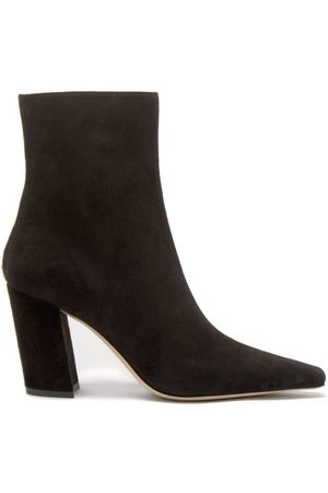 Jimmy Choo Zadie 85 Point-toe Suede Ankle Boots - Womens