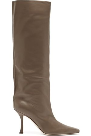 Jimmy Choo Women Thigh High Boots - Chad 90 Leather Knee-high Boots - Womens