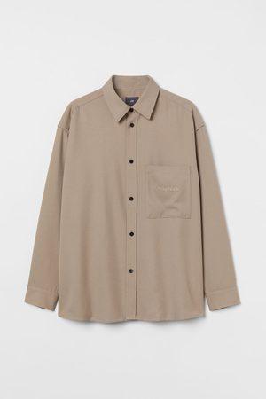 H & M Men Shirts - Oversized Twill Shirt