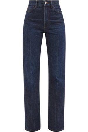 Acne Studios 1977 High-rise Bootcut Jeans - Womens - Dark Denim