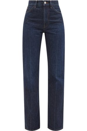 Acne Studios Women Bootcut - 1977 High-rise Bootcut Jeans - Womens - Dark Denim