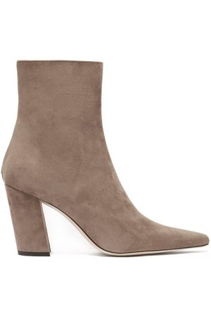 Jimmy Choo Women Ankle Boots - Zadie 85 Point-toe Suede Ankle Boots - Womens