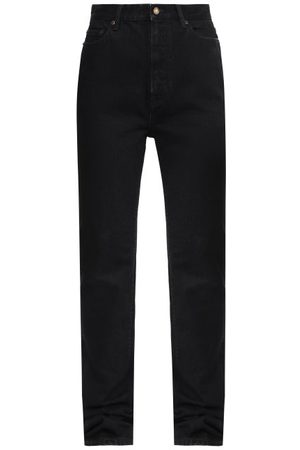 Saint Laurent Women High Waisted - High-rise Straight-leg Jeans - Womens
