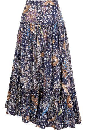 CARA CARA Tisbury printed cotton midi skirt