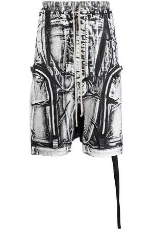 Rick Owens Men Sports Shorts - Bauhaus printed shorts