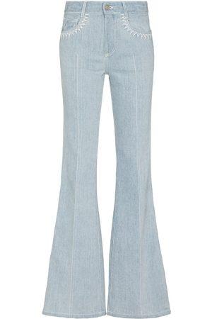 Chloé Women Flares - Logo motif flared jeans