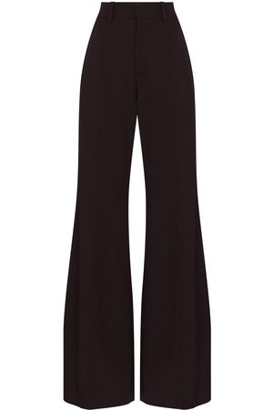 Chloé Women Wide Leg Pants - Grain de poudre flared trousers