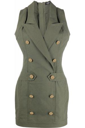 Balmain Women Sleeveless Dresses - Buttoned sleeveless dress
