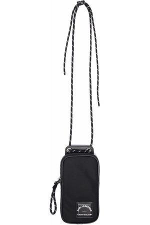 Karl Lagerfeld Men Phones Cases - Logo-patch phone bag