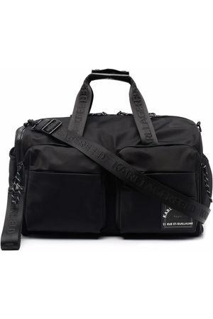 Karl Lagerfeld Men Luggage - Recycled polyester weekender bag