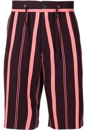 Paul Smith Men Shorts - Striped drawstring shorts
