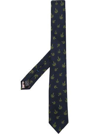 Paul Smith Leaf-print silk tie