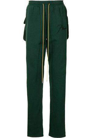 Rhude Men Sweatpants - Oversize flap-pocket logo-embroidered track pants