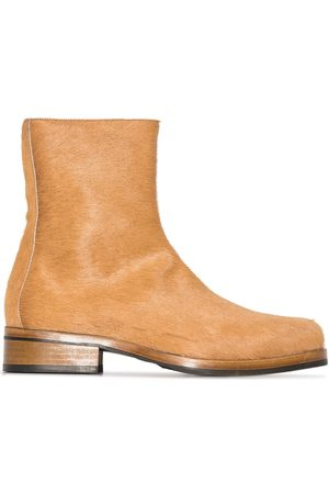 OUR LEGACY Men Ankle Boots - Camion textured ankle boots - Neutrals